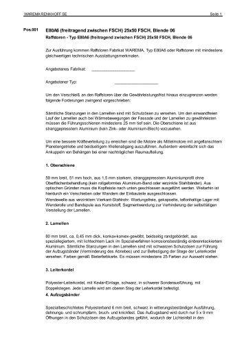 ausschreiben.de - Export - Finkeisen Sonnenschutz