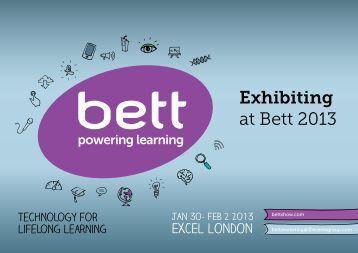 Bett 2013 - Exhibiting at Bett
