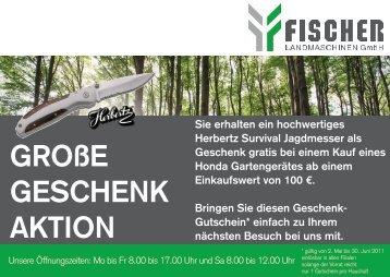 GROßE GESCHENK AKTION - Fischer Landmaschinen