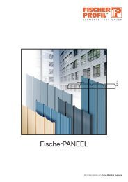 Paneele - Fischer Profil | Elemente fürs Bauen