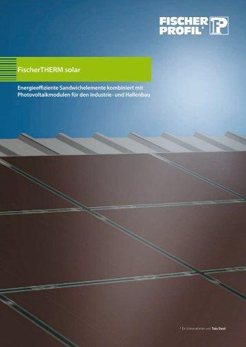 FischerTHERM solar - Fischer Profil | Elemente fürs Bauen