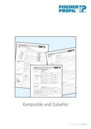 Kantprofile und Zubehör - Fischer Profil | Elemente fürs Bauen