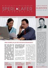 WICHTIGE TERMINE - 4. QUARTAL 2007 - Sperl & Lafer