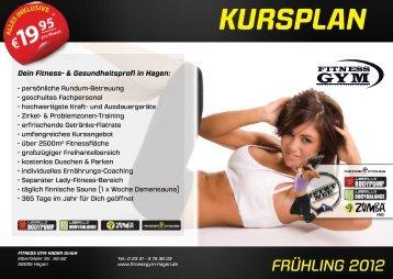 KURSPLAN - FITNESS GYM Hagen
