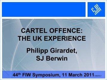 THE UK EXPERIENCE Philipp Girardet, SJ Berwin