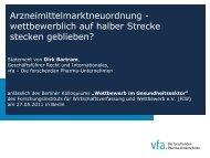 Bartram - Forschungsinstitut für Wirtschaftsverfassung und Wettbewerb