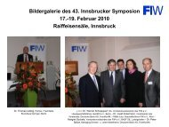 Bildergalerie des 43. Innsbrucker Symposion 17.-19. Februar 2010 ...