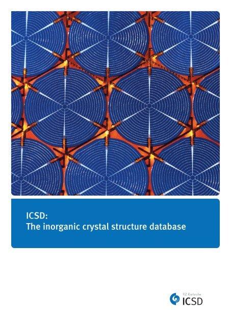 ICSD: The inorganic crystal structure database - FIZ Karlsruhe