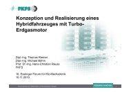 Konzeption und Realisierung eines Hybridfahrzeuges mit ... - FKFS