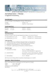 INFORMATION + PREISE - FKFS