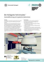 Der Stuttgarter Fahrsimulator - FKFS