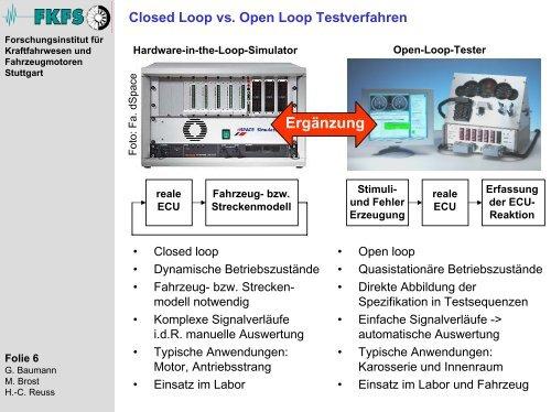 Vereinheitlichung von Testverfahren - FKFS