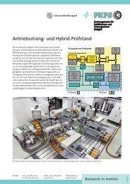 Universeller Antriebsstrang- und Hybrid-Prüfstand - FKFS