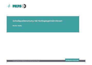Schallquellenortung mit Hohlspiegelmikrofonen - FKFS