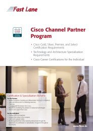 Cisco Channel Partner Program - Fast Lane Schweiz