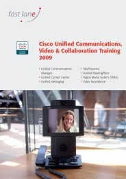 Cisco Unified Communications, Video & Collaboration ... - Fast Lane