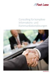 Download Fast Lane Consulting Services als PDF-Datei - flane.ch