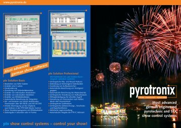 ptx show control systems – control your show! Foto ... - Flash Art GmbH