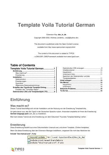 Template Voila Tutorial German - direktplus.de