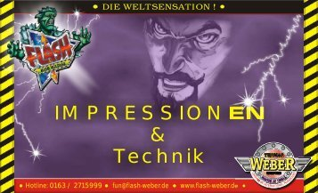 IMPRESSIONEN & Technik - Flash (Weber)
