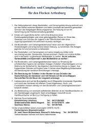 Bootshafen- und Campingplatzordnung für den Flecken Artlenburg