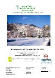 Klinikprofil und Therapiekonzept 2011 - bei der Paracelsus-Kliniken ...