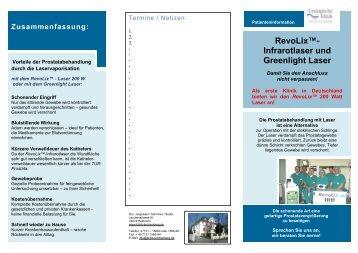 RevoLix™- Infrarotlaser und Greenlight Laser - Urologische Klinik ...