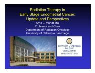 Radiation Therapy in Early Stage Endometrial Cancer: Update and ...