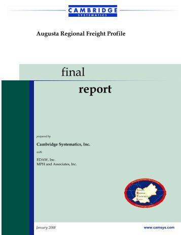 Augusta Regional Freight Profile - Augusta, Georgia