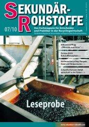 SEKUNDÄR-ROHSTOFFE 07/2010 - EU-Recycling
