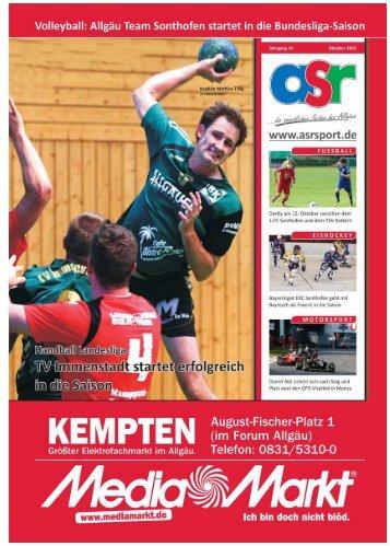 ASR Sport Ausgabe Oktober 2012 - Allgäu Sport Report
