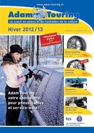 Hiver 2012 / 13 - Adam Touring