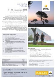 evo-training Mallorca 4. – 10. November 2012 - World Of Travel ...