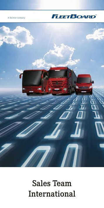 Sales Team International - Daimler FleetBoard GmbH