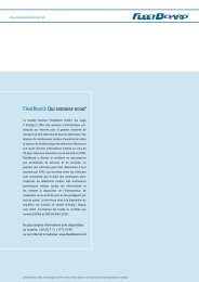 FleetBoard: Qui sommes nous? - Daimler FleetBoard GmbH