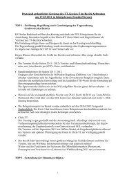 Protokoll vom ordentlichen Kreistag des Kreises 5 im Bezirk ...