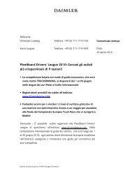 FleetBoard Drivers' League 2010 - Daimler FleetBoard GmbH