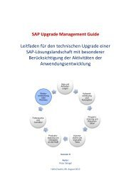 SAP Upgrade Management Guide - Custom Code Lifecycle ...