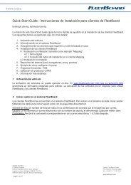 Quick Start Guide - instrucciones de instalación para clientes de ...