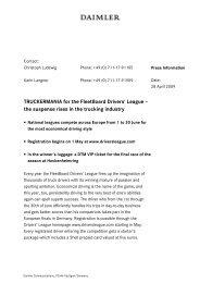 TRUCKERMANIA for the FleetBoard Drivers' League - Daimler ...