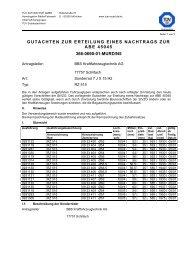 gutachten zur erteilung eines nachtrags zur abe 45045 366-0690-01 ...