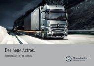 Der neue Actros. Fernverkehr. 18 - Daimler FleetBoard GmbH