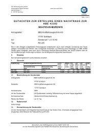 Gutachten zur Erteilung eines Nachtrags zur ABE 43392