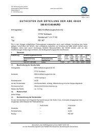 gutachten zur erteilung der abe 46420 366-0315-06-murd