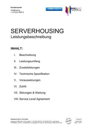 LB 406 048 Serverhousing - Hall AG