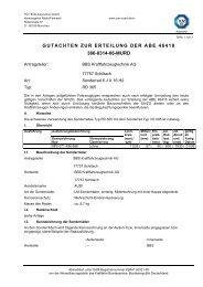gutachten zur erteilung der abe 46418 366-0314-06-murd