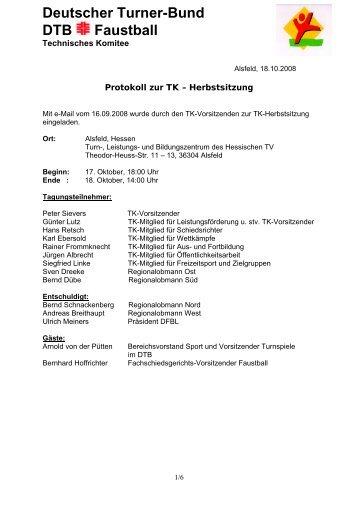 Deutscher Turner-Bund DTB Faustball - Regionalgruppe Süd