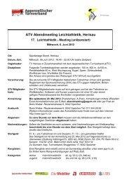 Ausschreibung Abendmeeting 2012 - Appenzellischer Turnverband