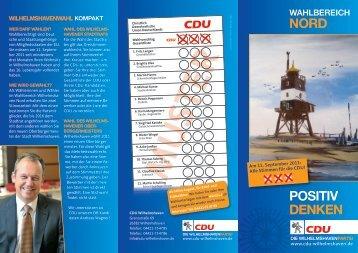 Den Wahlbereichsflyer finden Sie hier - CDU Wilhelmshaven