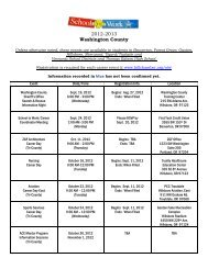 Washington County Only Career Day Calendar 2012-2013
